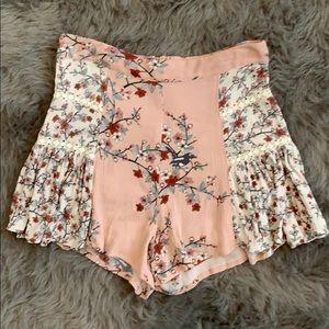 Somedays Lovin Sakura pink floral shorts